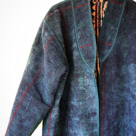vintage Indigo kantha long coat  ⅱ