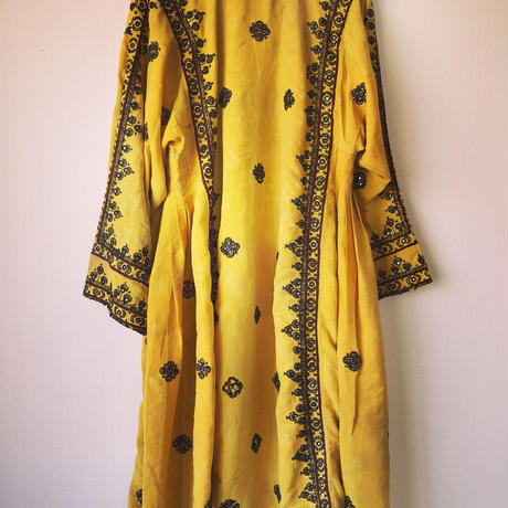 vintage baloch dress YELLOW YEAH YELLOW