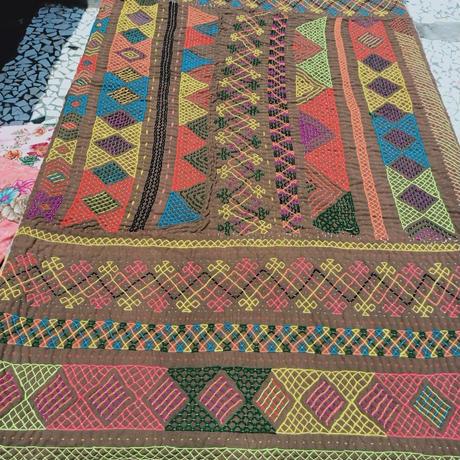 kalbeliya traditional hand embroidery rug C