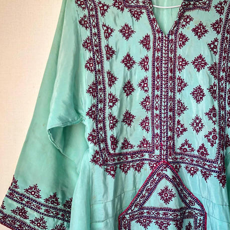 Mint green vintage baloch dress