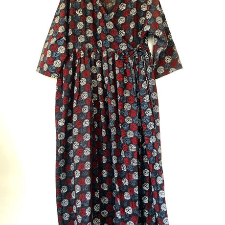 black block print kashcourt  dress