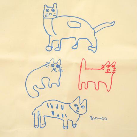 アトリエやっほぅ!! エコバッグ 4匹のネコ