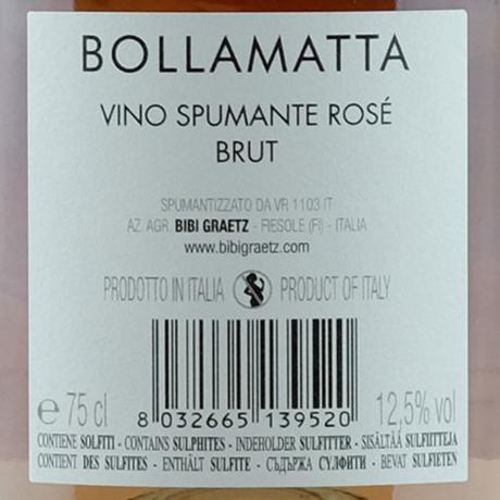 ビービー・グラーツ ボラマッタ ロゼ ブリュット Bibi Graetz Bollamatta Rosè Brut(750ml)