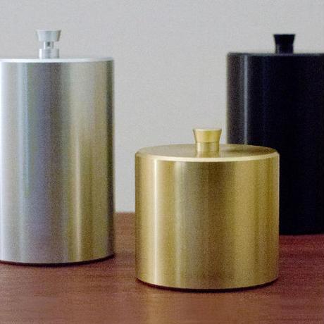 canister - S  half  -white- / -gold- / -black-