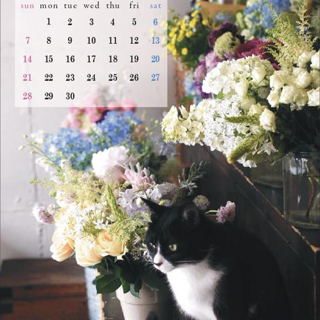 花屋の猫 スカのカレンダー 2021