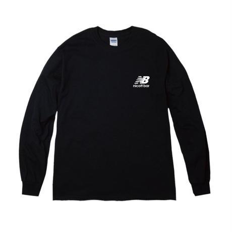 【期間限定受注販売】NB-LOGO Long Sleeve TEE  [BLACK] /NICOtt bar 【12月28日〜1月8日まで】