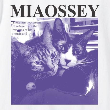 【支援企画グッズ】MIAOSSEY TEE [PURPLE/WHITE] /NICOtt bar【来店時限定プレゼント付き】
