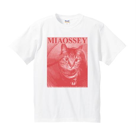 【支援企画グッズ】MIAOSSEY TEE [PINK/WHITE] /NICOtt bar【来店時限定プレゼント付き】