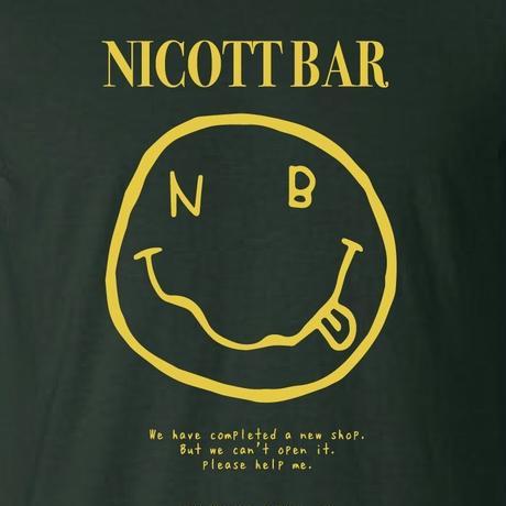 【支援企画グッズ】HELP ME TEE [BLACK] /NICOtt bar【来店時限定プレゼント付き】