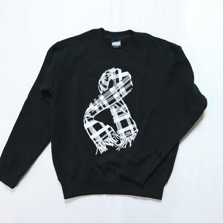 "SCARF""8"" CREW NECK [BLACK] /8otto"