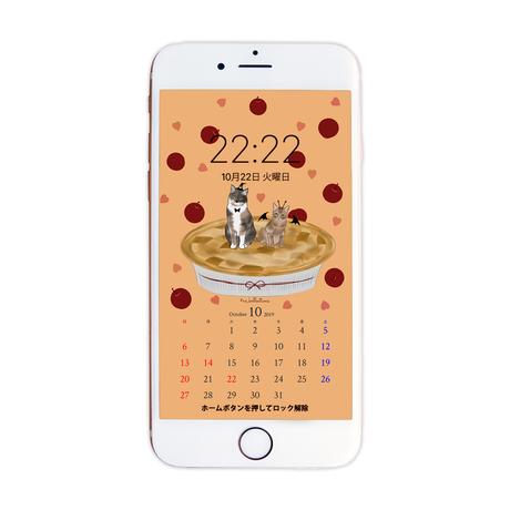 10月待受カレンダー ver.1