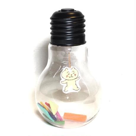 電球オブジェ(ミルクティー猫)