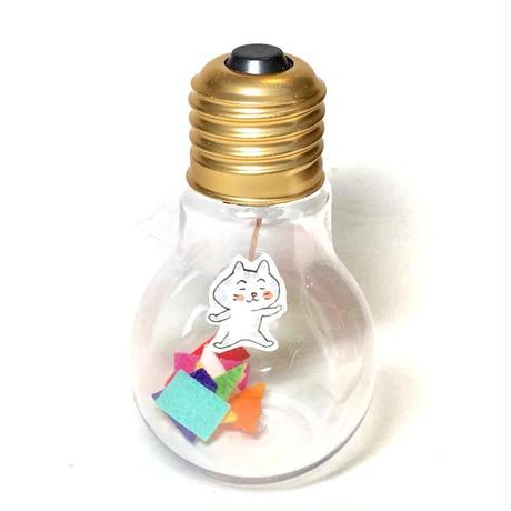電球オブジェ(サバトラ)