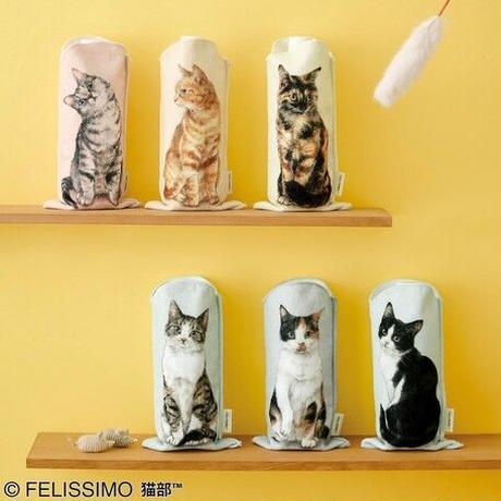 【4/17新入荷】フェリシモ猫部 │ 机の上におすわり 猫のペットボトルタオル