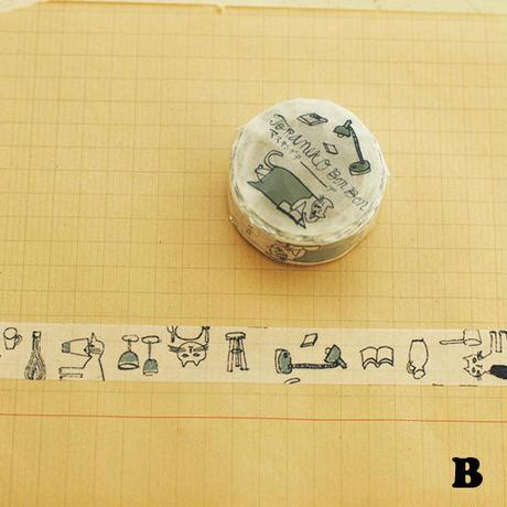 【3/25再入荷】マスキングテープ │ トラネコボンボン 記憶のモンプチ