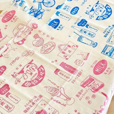 【4/17再入荷】手ぬぐい| 猫印ミルク(星羊社)ピンクのみ