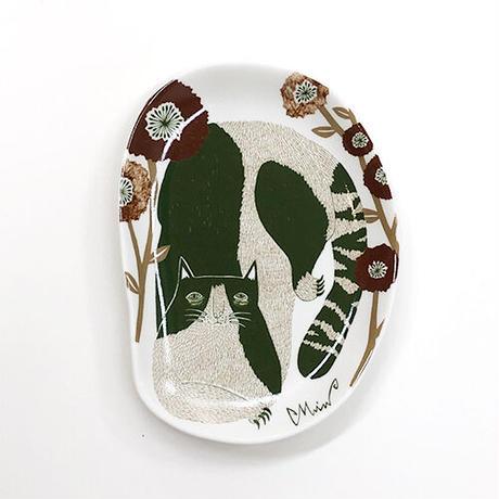 morita MiW 小皿 「空き地の陽だまりの猫」