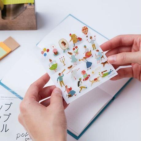 【3/17新入荷】シール|POP-UP stickers 中村玲子
