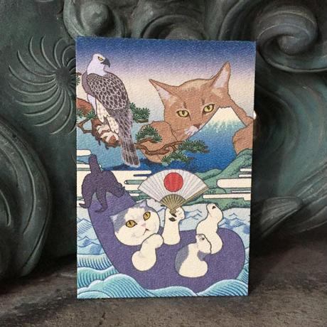 猫託 御朱印帳 L判 ギフト用 白奉書紙 or 鳥の子紙
