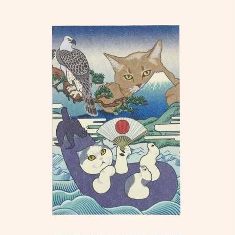 猫託 御朱印帳 L判  *鳥の子紙