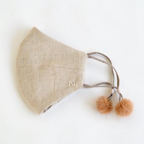【予約商品】ホールドマスクBONBON (モカ)ALL麻ベージュ〈1月お届け予定〉12/22開始