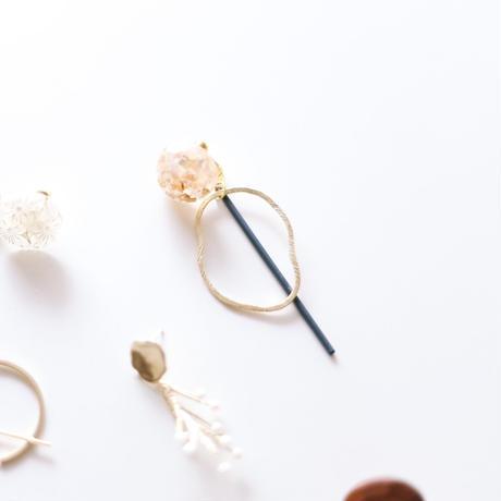 hole - vintage beads earring
