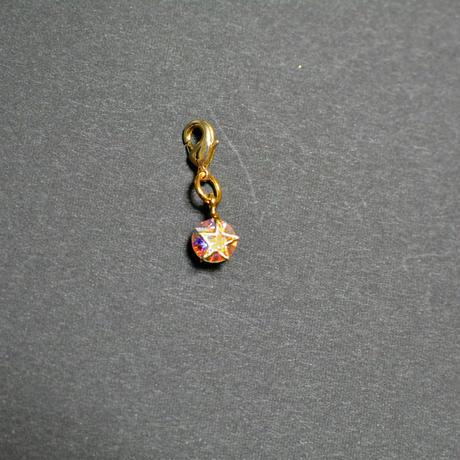 ブックマーカー(金)*星形・スワロカラー:クリスタルオーロラ