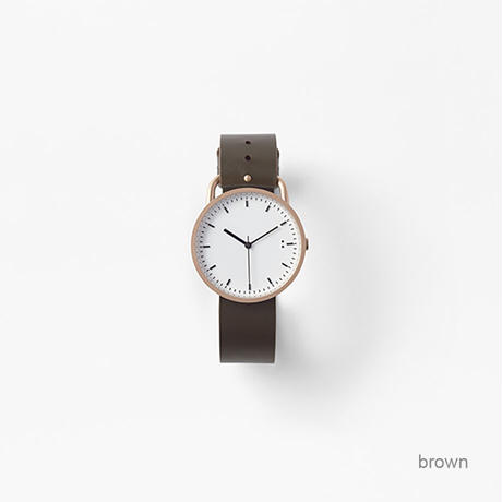 buckle / wrist watch brown leather