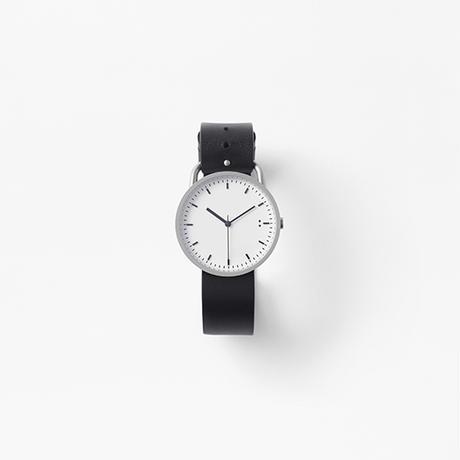 buckle / wrist watch black leather