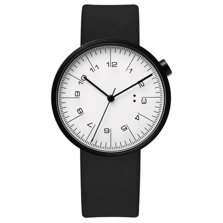draftsman / wrist watch black leather