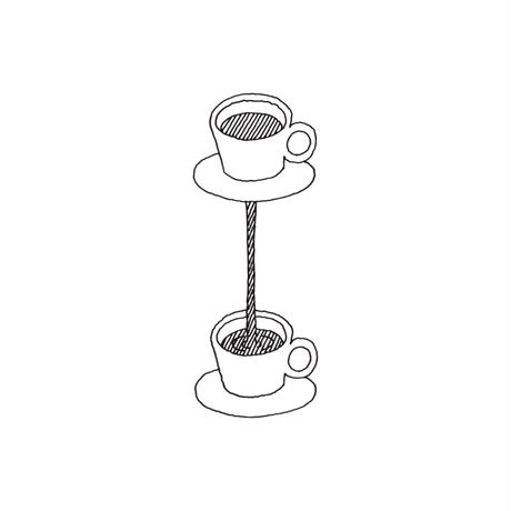 twin cup (coffee dripper + cup and saucer)