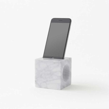 cone / smartphone speaker L white (build to order)