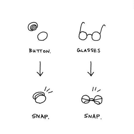snap glasses + / round