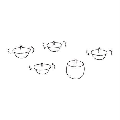 top-tea set (1 pot + 2 cups)