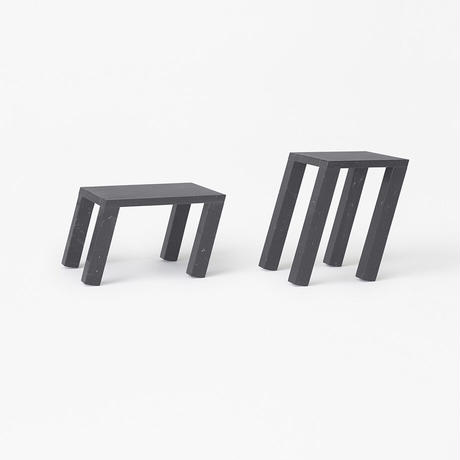 nod / side table low black (build to order)