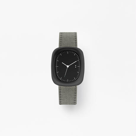 window / wrist watch grey nylon