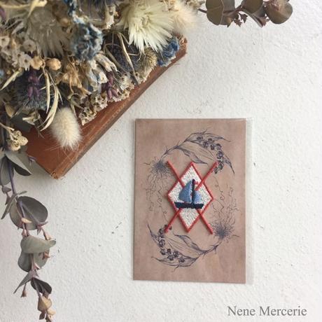 アーガイル/ヨット/刺繍アイロンワッペン