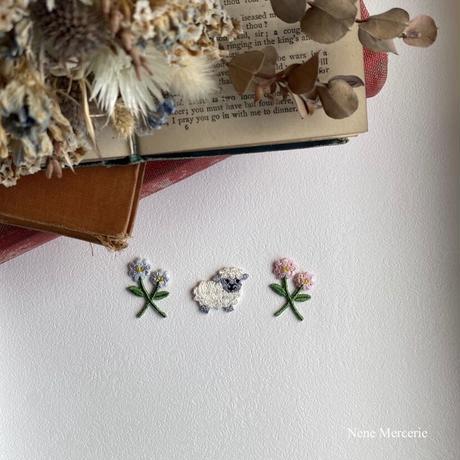 メリーさんのヒツジ/刺繍アイロンワッペン