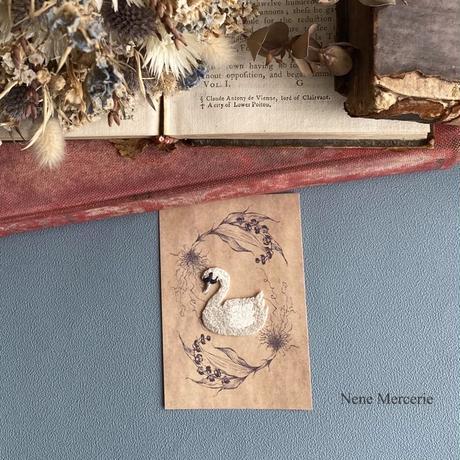 ホワイトスワン/刺繍アイロンワッペン