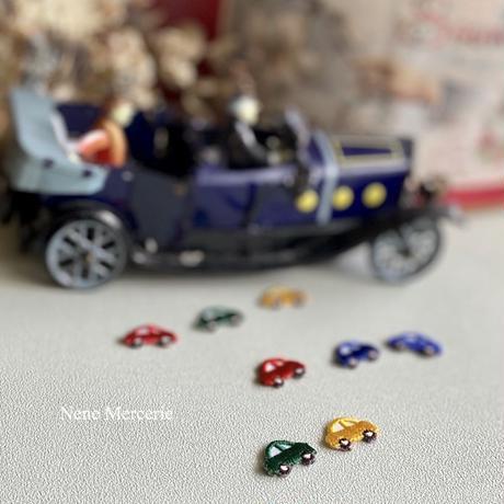 ミニカー/ブルー/2枚セット/刺繍アイロンワッペン