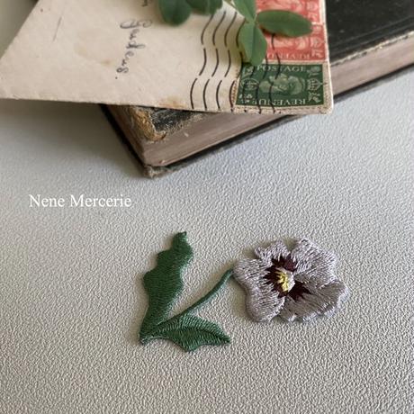 パンジー/刺繍アイロンワッペン