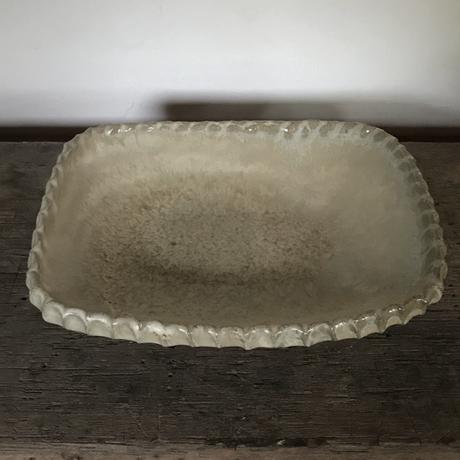 山本勘弥のわら灰釉角鉢