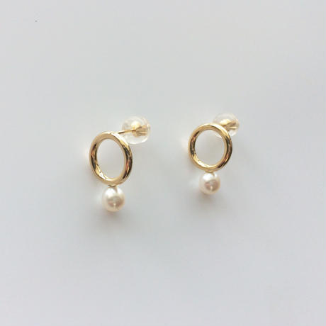 Gold&Pearlピアス