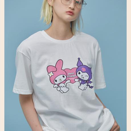 Best Friend 1/2 T-Shirt (White)