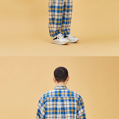 D19S Check Pants (Blue+Yellow)