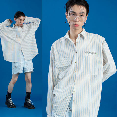 [ND] 19SM Stripe Shirt (Beige)