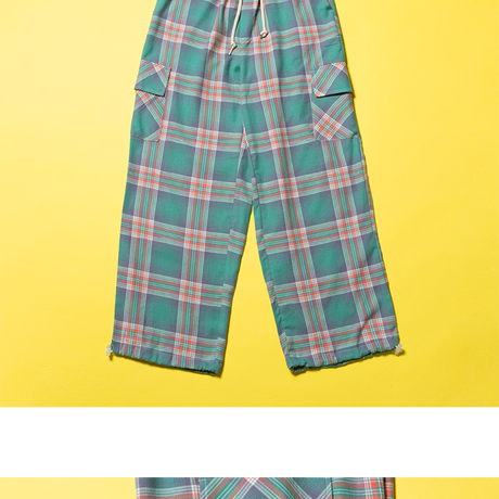 D19S Check Pants (Green)