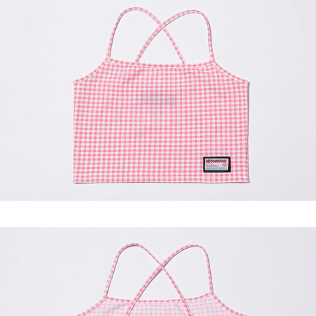 Check X Top (Pink)