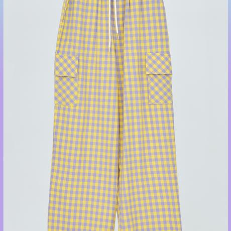 [ND.] 20FW Check Pants (Yellow)