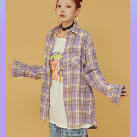 20FW Check Shirt (Purple)